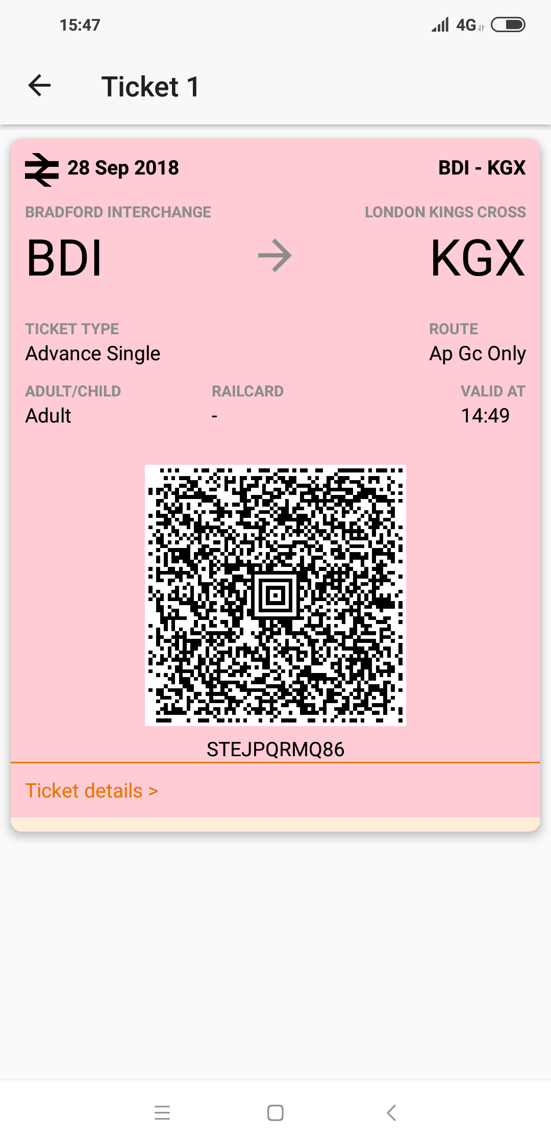 E-ticket example