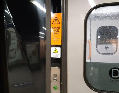 Signage on the train door
